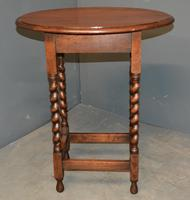 Oak Barley Twist Lamp Table (2 of 4)