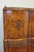 Antique Impressive Burr Oak Cocktail Drinks Cabinet (15 of 16)