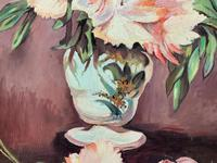 Large Original Gilt Framed 20th Century Impressionist Still Life Floral Oil Painting (9 of 12)