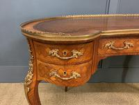French Kingwood Parquetry Kidney Shaped Desk (3 of 19)