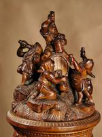 An Exceptional Very Fine Carved Lime Wood Black Forest Museum Quality Humidor / (5 of 20)