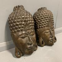Pair of c19th Carved Indian Masks (2 of 6)