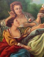 After Amos Cassioli - Large 20th Century Oil on Canvas Painting (10 of 12)