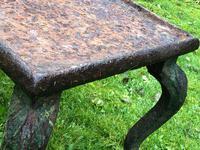 French 18th Century Georgian Grand Tour Garden Cast Iron Plinth Table Claw Feet (15 of 33)