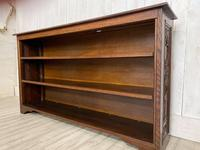 Large Victorian Carved Open Bookcase