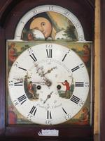 Fine English Longcase Clock Radcliff Elland 8-day Grandfather Clock with Moon Roller Dial (15 of 27)