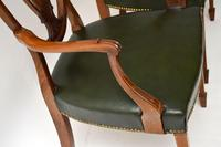 Pair of Antique Mahogany Shield Back Carver Armchairs (4 of 9)