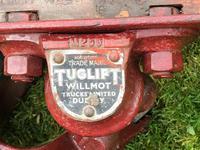 English Vintage Railway Willmot Trolley Oak Iron Plank Top Coffee Wheel Table (12 of 25)