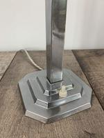Art Deco Chrome Table Lamp With Reg No. Rewired And Pat Tested (3 of 7)