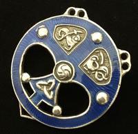 Silver and enamel Celtic Brooch
