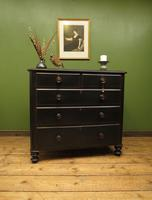 Antique Painted Black Chest of Drawers (16 of 16)