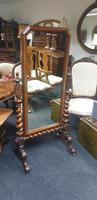 Victorian Walnut Cheval Dressing Mirror (2 of 5)