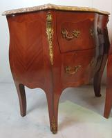 19th Century Pair of Inlaid Kingwood Marble Top Chests (4 of 7)
