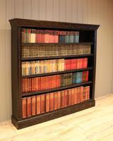 Large Victorian Open Dark Oak Bookcase (7 of 10)