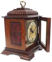 Vintage English Westminster Chime Bracket Clock – Solid Mahogany Musical Mantel Clock (6 of 10)