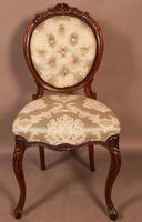 Fantastic Set of 6 Victorian Walnut Dining Chairs (7 of 14)