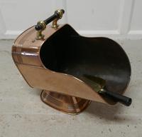 Superb Large Arts & Crafts Copper Helmet Coal Scuttle (5 of 7)
