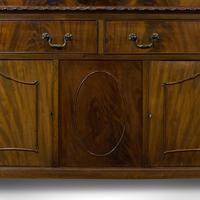 Antique Regency Revival Sideboard, English, Flame Mahogany, Victorian c.1900 (9 of 10)