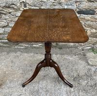 Georgian Oak Rectangular Tilt Top Occasional Table (6 of 16)