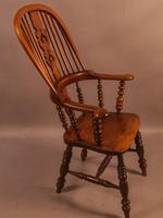 Good Victorian Broad Arm Windsor Chair (8 of 9)