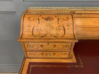 Inlaid Satinwood Carlton House Desk by Jas Shoolbred (17 of 25)