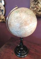 "Antique 8"" Paper Mache Terrestrial Globe (6 of 8)"