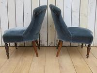 Pair of Antique French Tub Chairs (5 of 9)