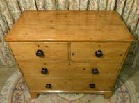 Regency Stripped Pine Chest of Drawers with Original Knobs (3 of 8)
