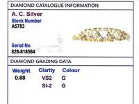 0.88ct Diamond & 18ct Yellow Gold Five Stone Ring - Antique c.1900 (6 of 9)