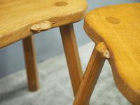 Carved Oak Mouseman Stool (5 of 6)