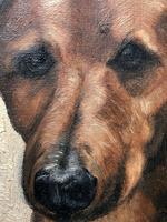 20th Century English Portrait Dachshund Sausage Animal Dog Oil Painting (8 of 12)