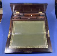 William IV Rosewood Lap Desk, Inlaid with Mother of Pearl (14 of 14)