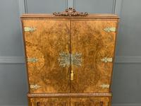 Burr Walnut Cocktail Cabinet (3 of 15)