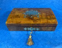 Victorian Brass Bound Burr Walnut  Card Box (9 of 11)