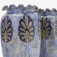 Pair of Royal Doulton Stoneware Art Nouveau Vases by Eliza Simmance c1903 (2 of 11)