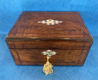 Victorian Walnut Jewellery Box c.1860 (2 of 14)