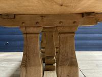 Huge French Bleached Oak Monastery Dining Table (18 of 30)