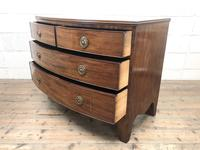Georgian Mahogany Bow Front Chest of Drawers (7 of 10)