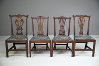 4 Antique Chippendale Style Mahogany Dining Chairs (6 of 12)