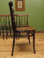 Four Antique Polish Thonet Style Bentwood Bistro Chairs with Pressed Seats (11 of 22)