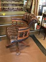 Swivel Leather Buttoned Desk Chair (5 of 10)