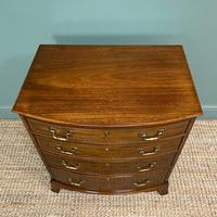 Small Quality Edwardian Mahogany Antique Bow Fronted Chest of Drawers (2 of 7)