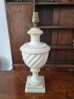 Carved White Marble Table Lamp Base (2 of 2)