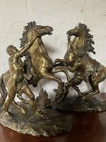 Fine Pair of Gilt-bronze Models of Marley Horses (2 of 12)