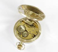 Antique Silver Moeris Half Hunter Pocket Watch (3 of 5)