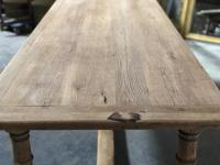 Bleached Oak Farmhouse Dining Table with Extensions (13 of 16)