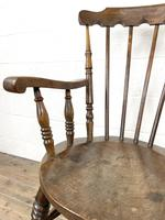 Antique Ash & Elm Armchair with Penny Seat (6 of 9)