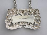 """George IV Antique Silver """"Singing Foxes"""" Wine Label 'port' by Charles Rawlings, London, 1827 (8 of 9)"""