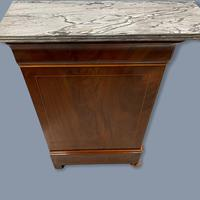Exceptional French Marble Top Mahogany Inlaid Commode (11 of 12)