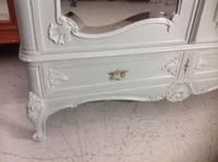 Painted French Carved Armoire in Plummet Grey (3 of 6)